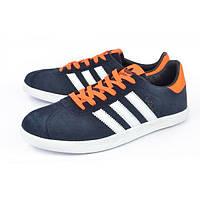 Кроссовки мужские замшевые Adidas Gazelle orange, Синий, 46