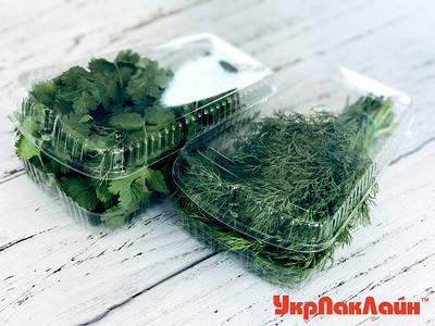 Упаковка для фруктов, ягод, зелени и пр. с перфорацией и без