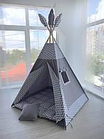 Детская игровая палатка (вигвам)  «Типи»с ковриком и подушечкой
