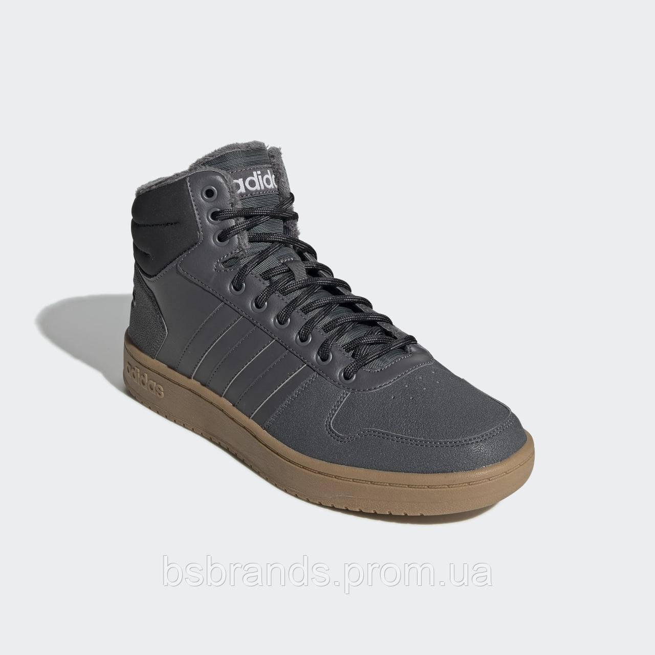 Мужские зимние кроссовки Adidas Neo Hoops 2.0 Mid (Артикул: EE7373)