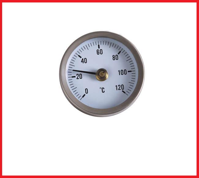 Термометр боковое подключение 1/2 63 мм. 120 град.