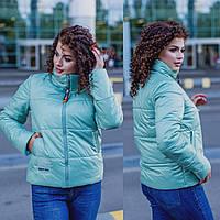 Стильная женская куртка демисезонная весна/осень больших размеров до 62-го