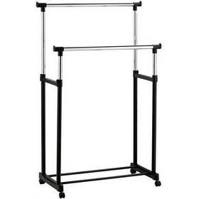 Вешалка стойка для одежды напольная двойная телескопическая Double-Pole Clothes-horse 55500996, КОД: 183630