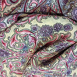 Рассказ о странствиях 1633-50, павлопосадский шарф шелковый крепдешиновый с шелковой бахромой, фото 5