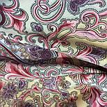 Рассказ о странствиях 1633-50, павлопосадский шарф шелковый крепдешиновый с шелковой бахромой, фото 6