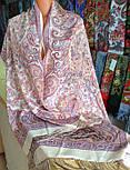Рассказ о странствиях 1633-50, павлопосадский шарф шелковый крепдешиновый с шелковой бахромой, фото 7
