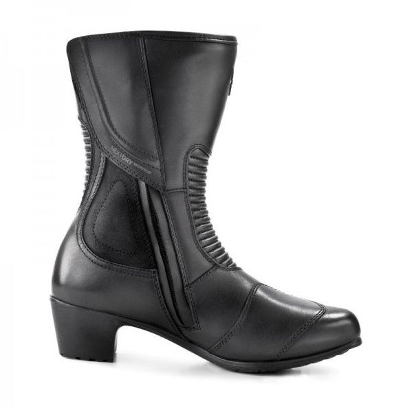 Мотоботы кожаные женские Shima Monaco (Black)