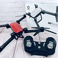 Радиоуправляемый квадрокоптер X9TW c WiFi камерой летающий дрон коптер складывающийся корпус Красный