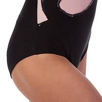 Купальник гимнастический для выступлений детский черный-розовый UR DR-1405-BKP, фото 2