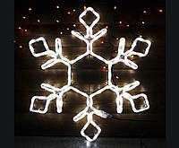 Светодиодное украшение Мотив Снежинка Lumion 49,5х42 см наружный цвет белый
