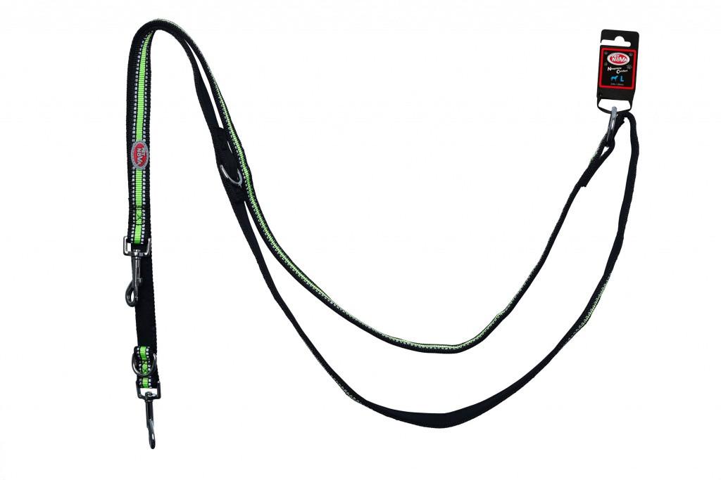 Поводок Pet Nova Adjust L 2.0 х 240 см Черный (с отражателем)