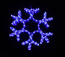 Светодиодное украшение Мотив Снежинка Lumion 40х40 см наружный цвет синий