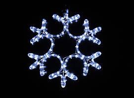 Светодиодное украшение Мотив Снежинка Lumion 40х40 см наружный цвет белый