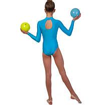 Купальник гімнастичний для виступів дитячий синій-жовтий UR DR-1405-BY, фото 3