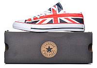 Кеды Converse All Star Chuck Taylor Union с британским флагом, Красный, 39