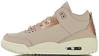 Женские баскетбольные кроссовки Air Jordan 3 Retro SE Particle Beige Найк Аир Джордан 3 Ретро бежевые