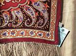 Рассказ о странствиях 1633-56, павлопосадский шарф шелковый крепдешиновый с шелковой бахромой, фото 6