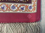 Рассказ о странствиях 1633-56, павлопосадский шарф шелковый крепдешиновый с шелковой бахромой, фото 7