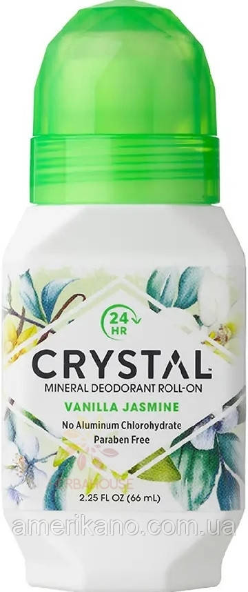 Роликовый дезодорант с ароматом Ванили и Жасмина Crystal Essence Deodorant Roll-On Vanila Jasmine