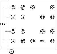 Накладки WVA19263 ICER 2РЕМ (410x200) IVECO НА КОЛЕСО (4шт)