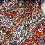 Ода грёзам 1560-55, павлопосадский шарф шерстяной  с шелковой бахромой, фото 4