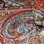 Ода грёзам 1560-55, павлопосадский шарф шерстяной  с шелковой бахромой, фото 6