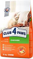 Клуб 4 лапы сухой корм для котят, скурицей, 5 КГ