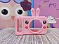 Чехол на детский фотоаппарат розовый зайчик, фото 3