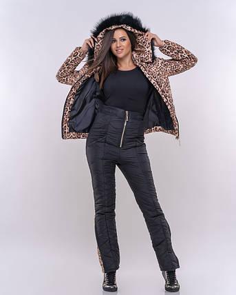 """Женский зимний дутый костюм """"LEO"""" с карманами и капюшоном (большие размеры), фото 2"""