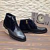Ботинки мужские комбинированные на шнурках, цвет синий, фото 3