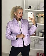 Женская короткая демисезонная куртка на кнопках 42,44,46р.(3расцв)