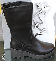 Сапоги женские кожаные зимние на тракторной подошве от производителя модель САВ501-1, фото 1