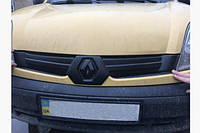 Renault Kangoo 2003-2008 зимняя заглушка накладка защита на решетку радиатора Рено Кенго Renault Kangoo 2003-2008 (Верх) глянец