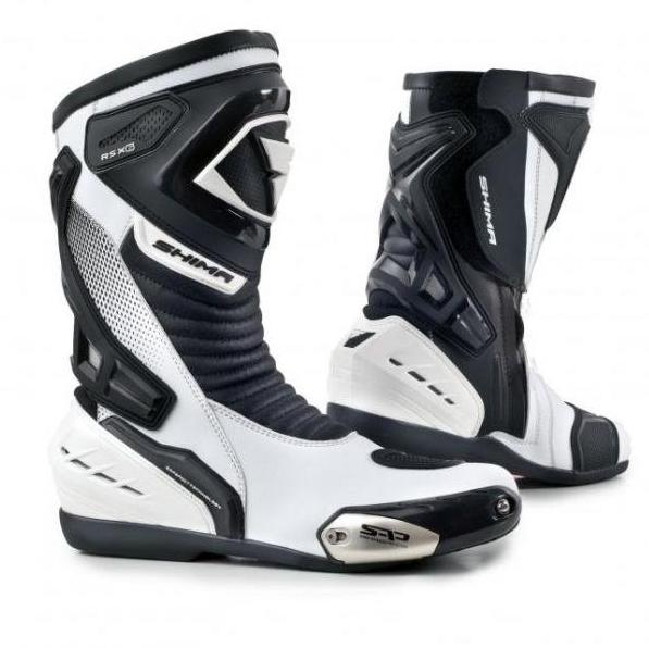 Мотоботы кожаные Shima RSX-6 (White Black)
