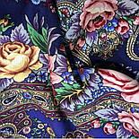 Остановись, мгновенье... 1401-14, павлопосадсая шаль из уплотненной шерсти с шелковой вязаной бахромой, фото 6
