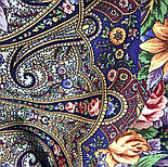 Остановись, мгновенье... 1401-14, павлопосадсая шаль из уплотненной шерсти с шелковой вязаной бахромой, фото 8