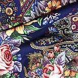Остановись, мгновенье... 1401-14, павлопосадсая шаль из уплотненной шерсти с шелковой вязаной бахромой, фото 9