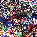 Остановись, мгновенье... 1401-14, павлопосадсая шаль из уплотненной шерсти с шелковой вязаной бахромой, фото 10