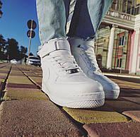 Кроссовки мужские в стиле Nike Air Force 1 белые форсы (есть черные) (размеры в описании)