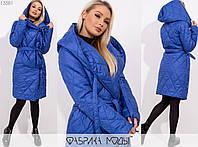 Пальто женское на запах MБ/-1006 - Электрик, фото 1