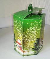 Картонная коробка новогодняя 600г заказать коробки оптом в типографии
