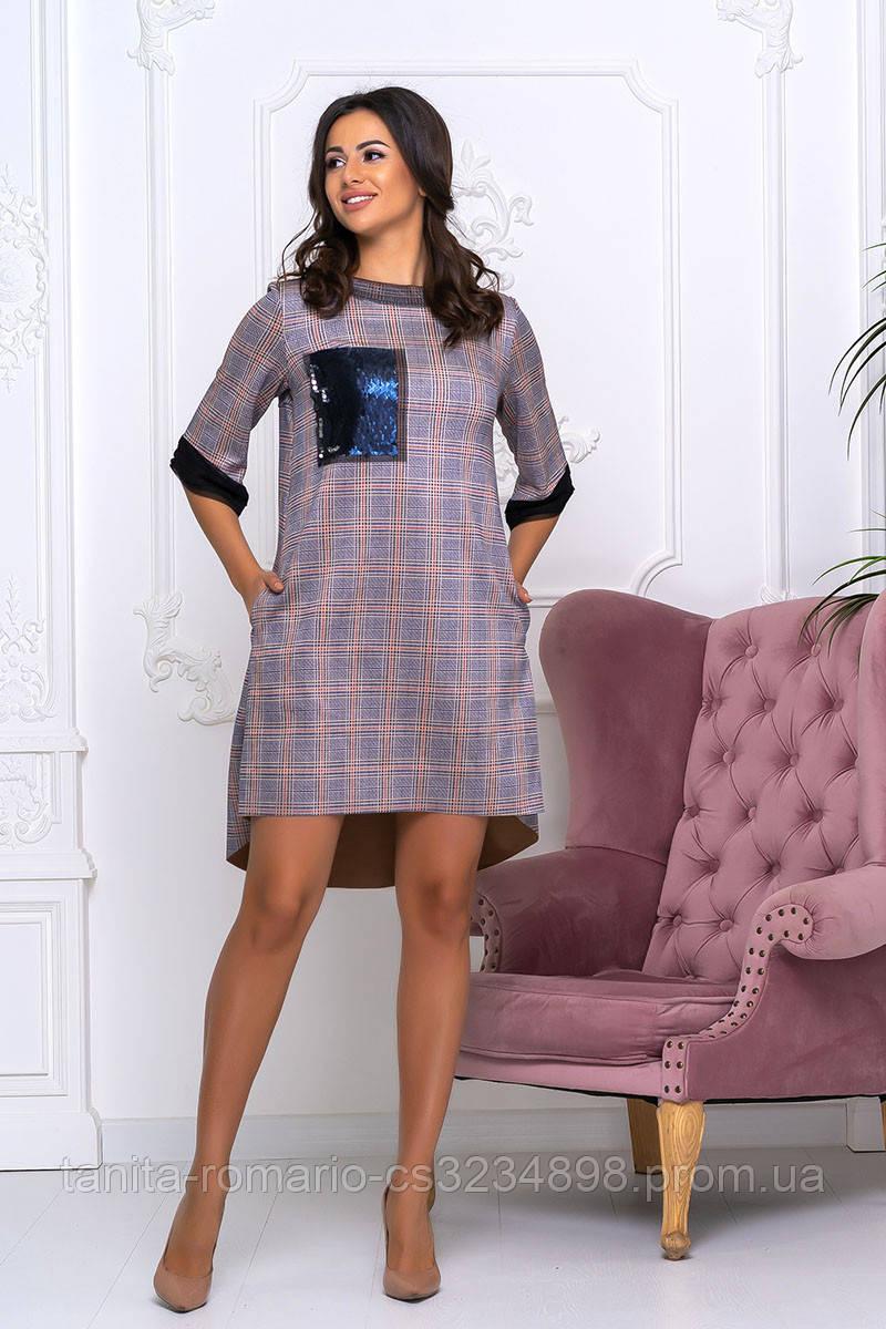 Повседневное платье 8157e Электрик S M L