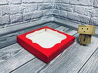 *10 шт* / Коробка для пряников / 200х200х30 мм / печать-Красн / окно-обычн, фото 1