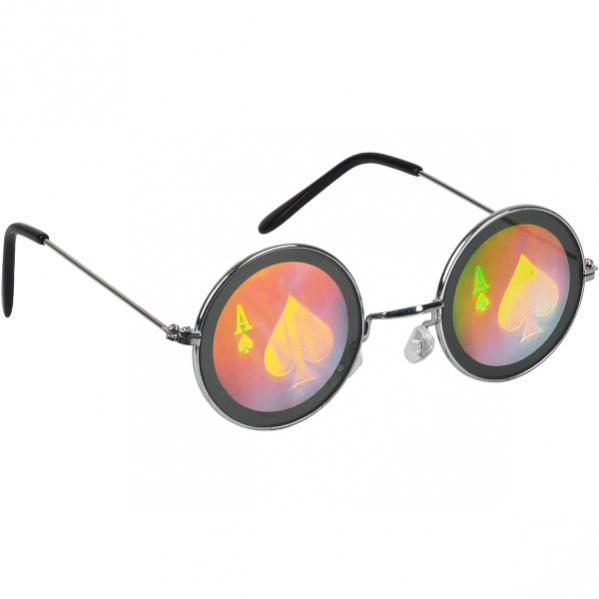 """Очки металл с рисунком """"голограмма"""""""