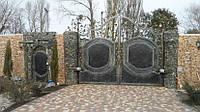 Кованые ворота и калитка с автоматическим приводом