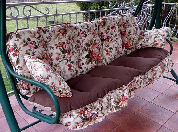 Подушки,матрасы для садовых качель 175 см. цветы, фото 2