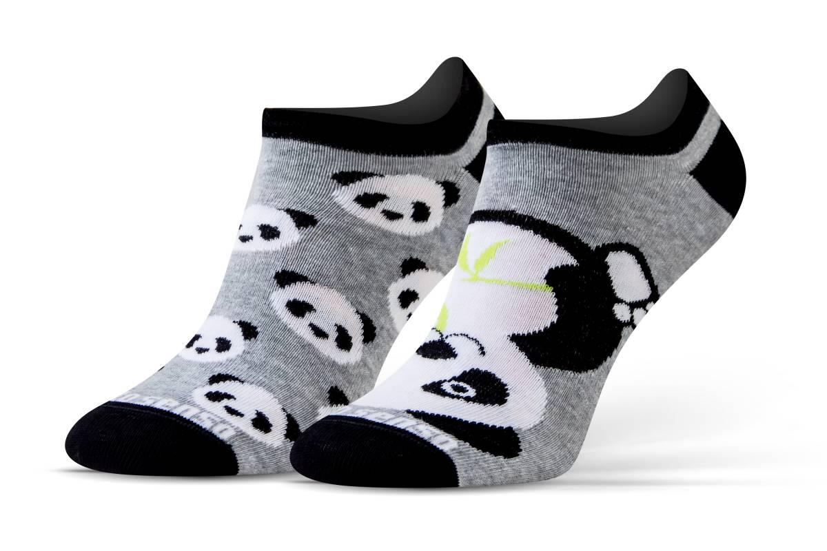 Женские носки Sesto Senso Pandas Short (original) короткие заниженные спортивные