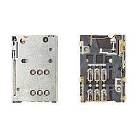 Коннектор SIM-карты для Nokia E6-00, N8-00, C2-05, C7-00, Asha 302, Nokia 701, оригинал
