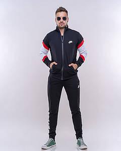 """Мужской трикотажный спортивный костюм """"Nike Аir"""" с контрастными вставками (2 цвета)"""