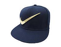 Синяя кепка с металлическим логотипоп Nike